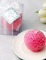 cheap -Recipient Gifts - 1Box/Set - Bridesmaids Pink Rose Ball Candles Favors (6.5 x 6.5 x 6.5 cm/box) Cake Decorating