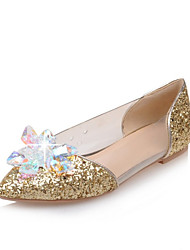 cheap -Women's Shoes Latex / Glitter / Customized Materials Seasons Comfort / Ballerina / Pointed Toe FlatsWedding /