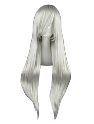 cheap -Cosplay Wigs Final Fantasy Sephiroth Silver Long Anime Cosplay Wigs 80 CM Heat Resistant Fiber Male / Female