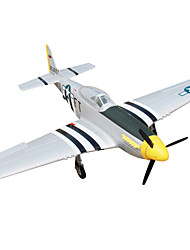 cheap -Dynam P51D Mustang 1:8 Brushless Electric 50KM/H RC Airplane 4ch 2.4G EPO Black & White PNP