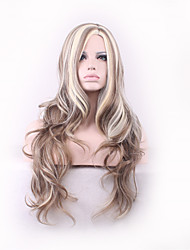 Hair Style Fashion Curly Realistic Wig Perruque Peruca Synthetic Wig Long Femme Anime Cosplay Wigs Sex Products