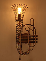 Amercian Industrial Countryside Vintage Saxophone Wall Lamp Decorate for the Coffee Room / Bar / Living Rooom Wall Light