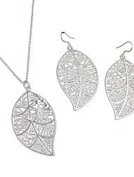 cheap -Women's Jewelry Set - Sterling Silver Fashion Include Necklace / Earrings Silver For Wedding / Party / Daily / Casual