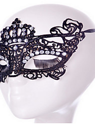 cheap -Sey Style Black /White Lace Mask for Halloween Party Decoration Masker Masquerade