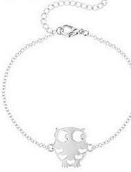 Kiming Korean Seweet Gold/Silver Owl Chain Tiny Bracelet Jewelry