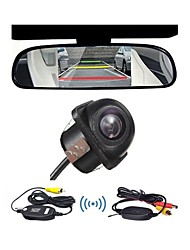 "Wireless 4.3"" LCD Rear View Monitor Mirror Car  Backup Camera"