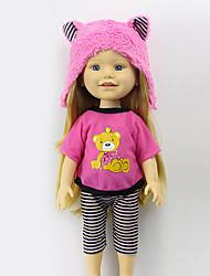 Недорогие -Sharon наборы 16-дюймовых одежды куклы платье принцессы шляпа моды аксессуаров одежды бесплатно три черного ребенка