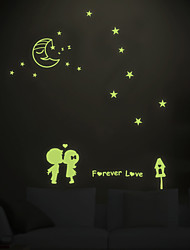Luminous Forever Love Starry Sky Lovers Luminous Wall Stickers DIY Fashion Romance Bedroom Wall Decals