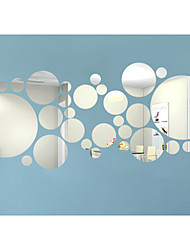 cheap -3D Round Shape Wall Stickers DIY Mirror Wall Stickers ,Combination Round Wall Stickers Acrylic Decals Home Decor