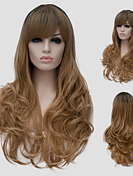 cheap -Synthetic Wig Brown Women's Capless Carnival Wig Halloween Wig Capless Wig Long Synthetic Hair
