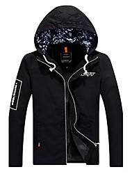 cheap -Spring Fall Jacket Long Sleeve Cotton Rayon