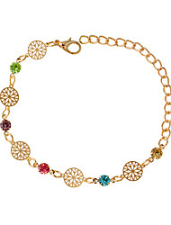 cheap -Women's Chain Bracelet - Fashion Round Silver Golden Bracelet For