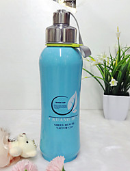 cheap -Water Bottle Single Portable Stainless Steel Outdoor for Camping / Hiking Blue Pink Grey