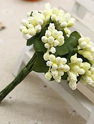 cheap -12 Branch/ Bouquet Simulation Wild Fruit Artificial Flowers Home Decoration