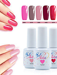 levne -Lak na nehty UV gel 15ml 8picecs/set UV barevný gel UV Top Coat Gel Top Coat Základní nátěr Světlo Namočte off Dlouhotrvající UV barevný