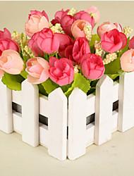 economico -1 1 Ramo Plastica Rose Fiori da tavolo Fiori Artificiali 5.9*5.5inch/15*14cm