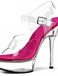 abordables -Mujer-Tacón Stiletto Plataforma Talón translúcido-Plataforma Zapatos del club Light Up Zapatos-Tacones-Boda Vestido Informal Fiesta y