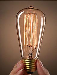 ST64 e27 incandescente 40w edison vintage lâmpada para bares café restaurante do clube de luz (220-240V)