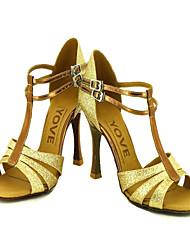 Недорогие -Латинской Настраиваемые женские сандалии сверкающие блестки танцевальной обуви (больше цветов)