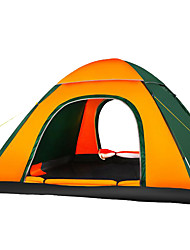 cheap -4 person Tent Single Camping Tent Outdoor Automatic Tent Waterproof / Moistureproof / Well-ventilated for Hunting / Hiking / Fishing