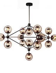 cheap -Ecolight™ Chandeliers 15 Lights/Glass Ball Lights/ Retro Living Room / Hallway / Outdoors / Garage Metal