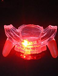 Недорогие -экологически чистый каучук торчащий зуб Хэллоуин привело фигурные скобки свечение
