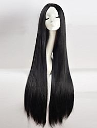 cheap -Synthetic Wig Straight kinky Straight Middle Part Black Women's Capless Cosplay Wig Long Synthetic Hair
