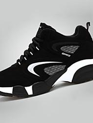 Da uomo Sneakers PU (Poliuretano) Primavera Estate Autunno Inverno Tempo libero Casual Sportivo Piatto Argento Nero/Rosso 5 - 7 cm