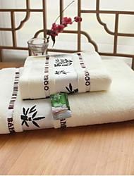 Ensemble de serviette de bain,Jacquard Haute qualité 100% Fibre de bambou Serviette
