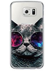 economico -Per Samsung Galaxy S7 Edge Ultra sottile / Traslucido Custodia Custodia posteriore Custodia Gatto Morbido TPU SamsungS7 edge / S7 / S6