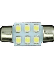 20pcs White 31mm 6-SMD Festoon Dome Map Interior LED Light Lamp DE3175 3022