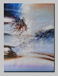 abordables -Peinture à l'huile Hang-peint Peint à la main - Abstrait Moderne Avec Cadre