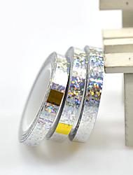 cheap -1pcs 6mm Beauty Nail Art Glitter Laser Silver Color Wavy Nail Lines DIY  Manicure Decoration
