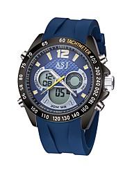 ASJ Men's Sport Watch Digital Watch JapaneseLCD Compass Calendar Water Resistant / Water Proof Dual Time Zones Luminous Stopwatch