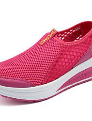 preiswerte -Damen Schuhe Tüll Sommer Loafers & Slip-Ons Walking Flacher Absatz für Normal Grau Rot