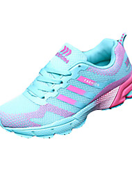 cheap -Women's Shoes Tulle Spring Fall Comfort Sneakers Hiking Shoes Flat Heel Lace-up for Athletic Outdoor Black Fuchsia Pink
