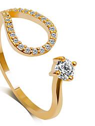 preiswerte -Damen Statement-Ring , Silber Golden Aleación Prinzessin Klassisch Modisch Hochzeit Party Party / Abend Modeschmuck