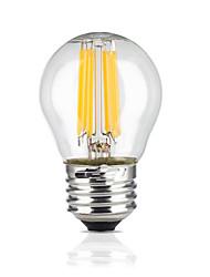 Недорогие -e26 / e27 светодиодные шарики с глобусом g45 6 cob 600lm теплый белый 2700k водонепроницаемый ac 220-240v