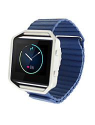 cheap -Watch Band for Fitbit Blaze Fitbit Leather Loop Leather Wrist Strap