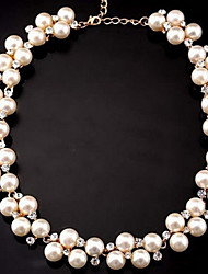 cheap -Women's Pearl Choker Necklace Strands Necklace - Party Work Bridal Fashion Adorable White Necklace For Wedding Party Daily