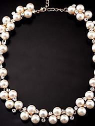 Недорогие -Жен. форма Для вечеринки Для офиса Свадьба Мода обожаемый Ожерелья-бархатки Струнные ожерелья Жемчуг Сплав Ожерелья-бархатки Струнные