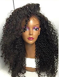 cheap -Top Quality High Quality Hair Synthetic Natural Black Color Kinky Curly Lace Front Wig In Stock