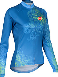 Sports Cycling Tops Women's Bike  / Front Zipper / Wearable / Ultra Light Fabric / Compression Long SleeveLYCRA® /