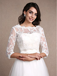 cheap -Lace Wedding Party Evening Women's Wrap With Lace Shrugs