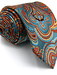 cheap -New Men's Necktie Tie Blue Floral 100% Silk For Men Wedding Business Fashion Extra Long
