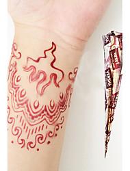 halloween herbal natural henna cones mehandi tatuagem versha arte corporal temporária (vermelho)