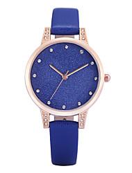 REBIRTH Mulheres Relógio de Moda Relógio de Pulso Quartzo imitação de diamante PU Banda Pendente Casual Elegantes Preta Branco Azul Cinza