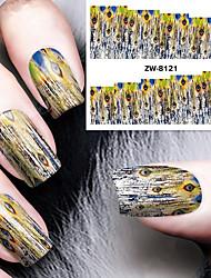Недорогие -Nail Art наклейки ногтей Вода Передача Переводные картинки