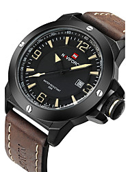 NAVIFORCE Men's Wrist watch Military Watch Fashion Watch Quartz Japanese Quartz Calendar / date / day Water Resistant / Water Proof