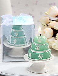 4box/set - Snowflake Candle with Ceramic Candle Holder Beter Gifts® Wedding Favor